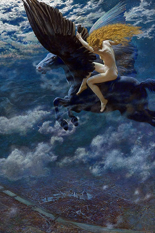 """Dream Idyll"" (A Valkyrie) by Edward Robert Hughes, 1902"