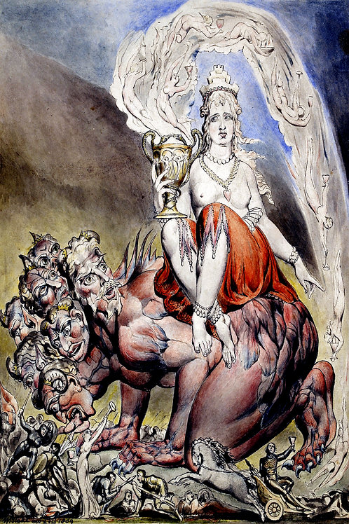 """The Whore of Babylon"" by William Blake, 1809"