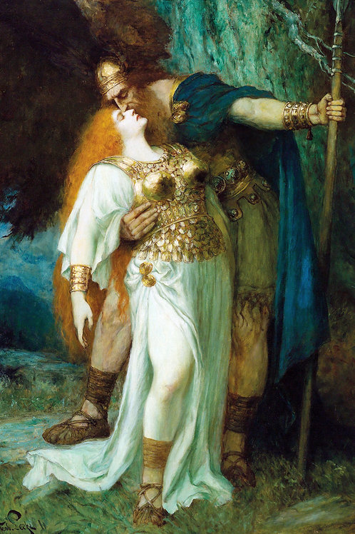 """Wotan's Farewell to Brünnhilde"" by Ferdinand Leeke, 1903"