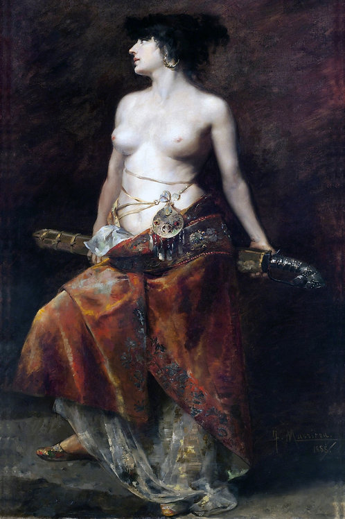 """Salomé"" by Francisco Masriera y Manovens,  1888"