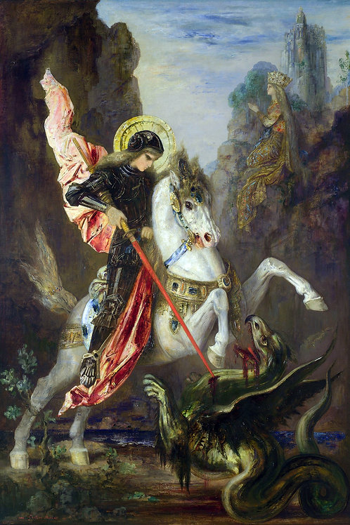 """""""Saint George"""" by Gustave Moreau, 1889"""