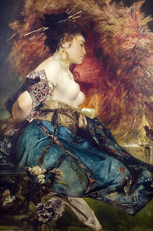 """""""Japanese Girl"""" by Hans Makart, 1870"""
