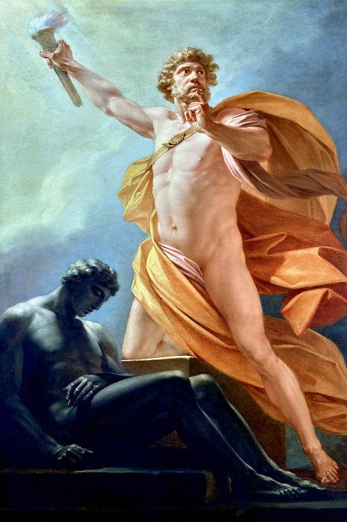 """""""Prometheus Brings Fire to Mankind"""" by Friedrich Heinrich Füger, 1817"""