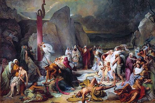 """""""Nehushtan (The Brazen Serpent)"""" by Fyodor Bruni, 1841"""