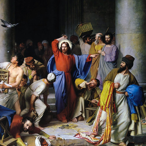 """""""Christ Cleansing The Temple"""" by Carl Heinrich Bloch, 1875"""