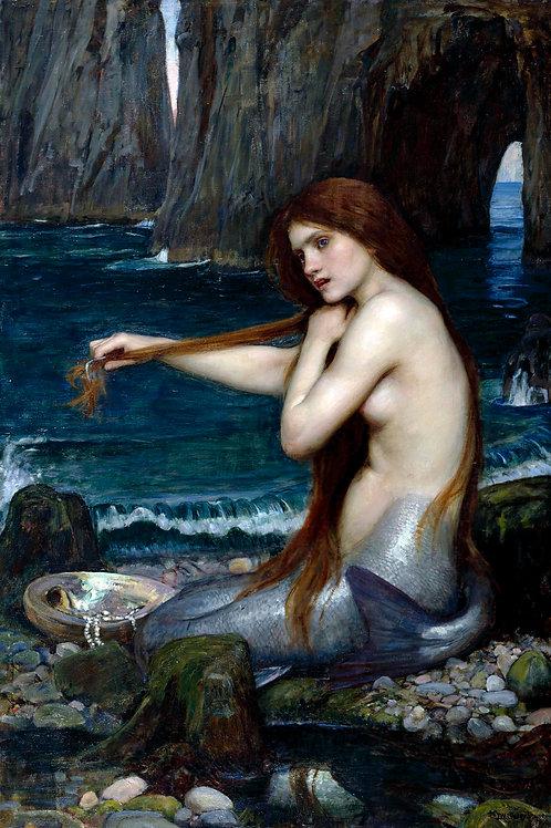 """""""Mermaid"""" by John William Waterhouse, 1900"""