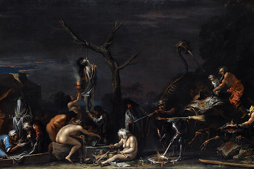"""""""Witches at Their Incantations"""" by Salvator Rosa, 1646"""