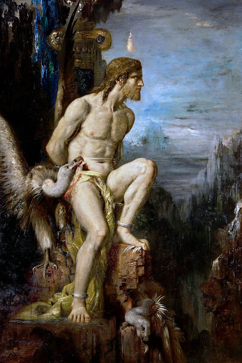 """Prometheus"" by Gustave Moreau, 1868"