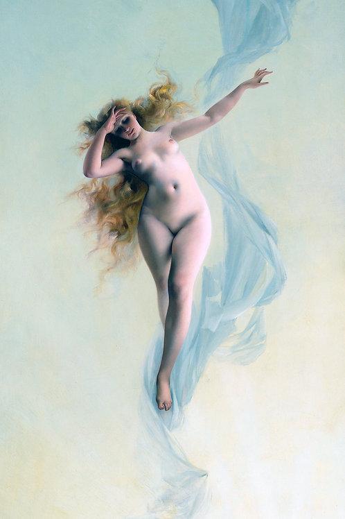 """Dawn"" by Luis Ricardo Falero, 1883"