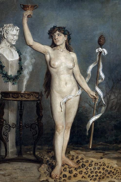 """""""Bacchante"""" by Joaquin Sorolla y Bastida, c.1880"""