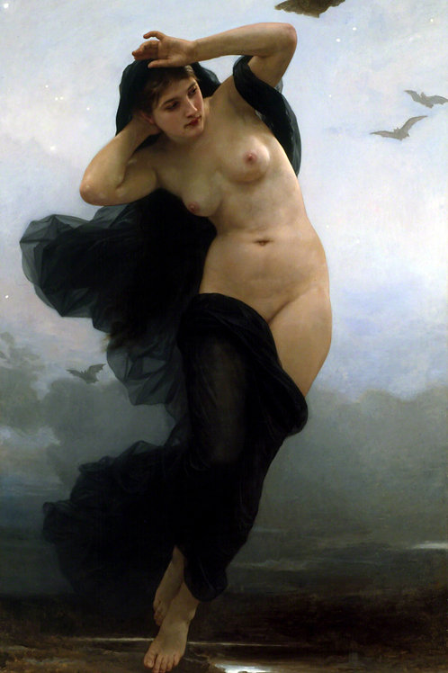 """La Nuit (The Night)"" by William Adolphe Bouguereau, 1883"