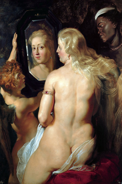 """Venus in Front of the Mirror"" by Peter Paul Rubens, 1614"