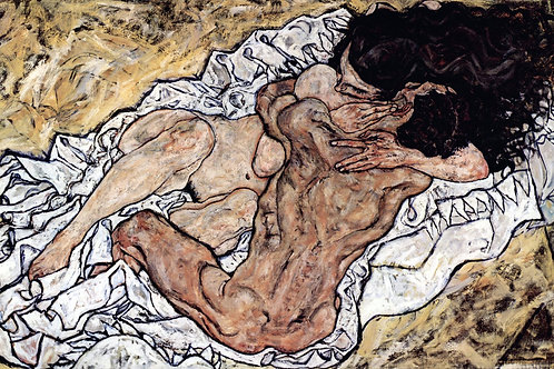 """The Embrace"" by Egon Schiele, 1917"