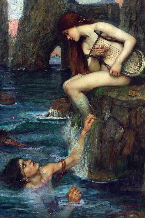 """The Siren"" by John William Waterhouse, 1900"
