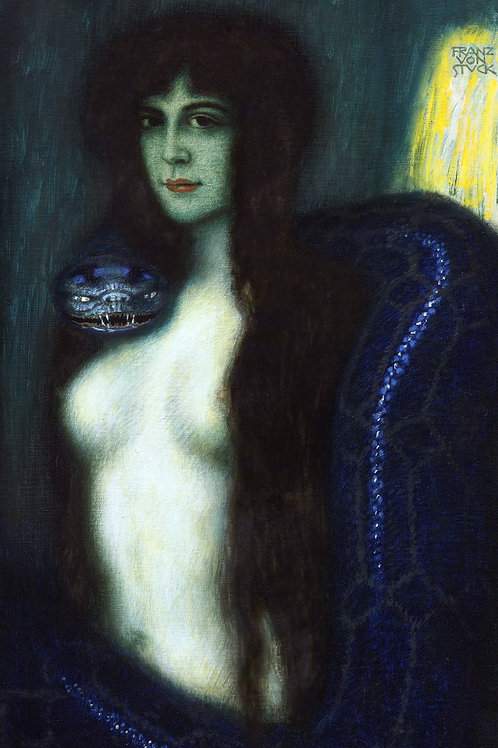 """""""The Sin"""" by Franz von Stuck, 1908"""
