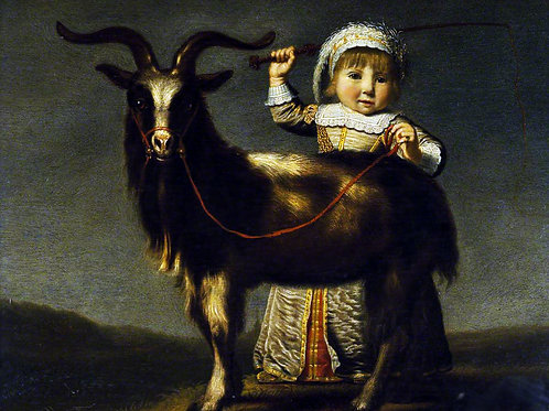 """""""A Child with a Goat"""" by Jacob Gerritsz. Cuyp, c.1630"""