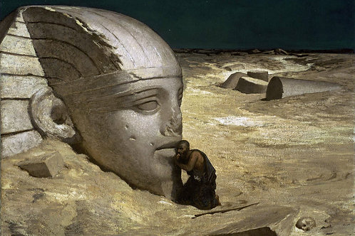 """""""The Questioner of The Sphinx"""" by Elihu Vedder, 1863"""