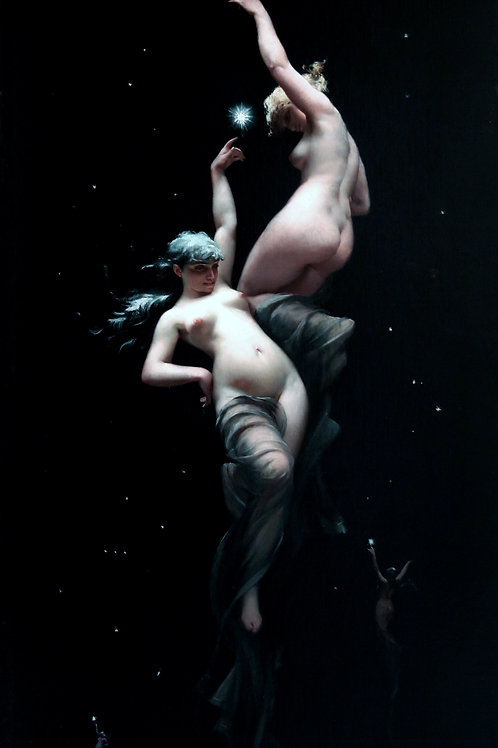 """Moonlit Beauties"" by Luis Ricardo Falero, c.1875"