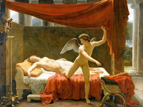 """""""Cupid and Psyche"""" by François-Éduard Picot, c.1817"""
