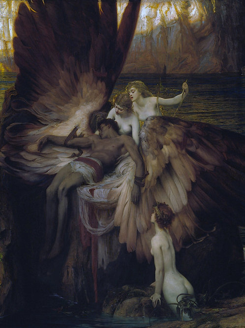 """The Lament of Icarus"" by Herbert James Draper, 1898"