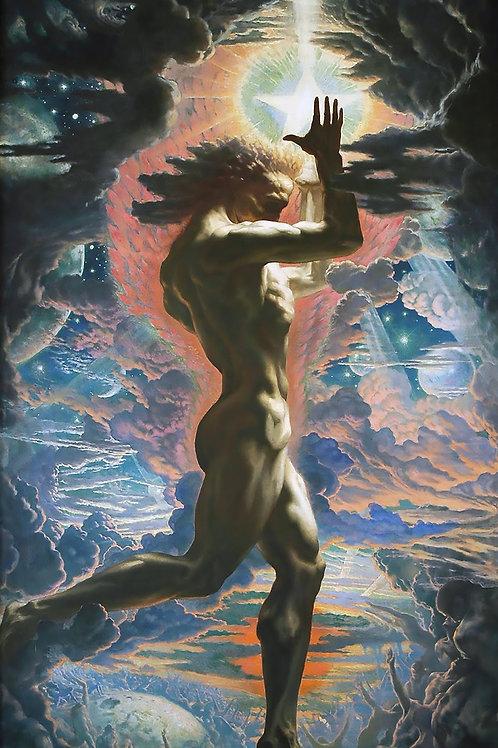 """""""Prometheus"""" by Jean Delville, 1907"""