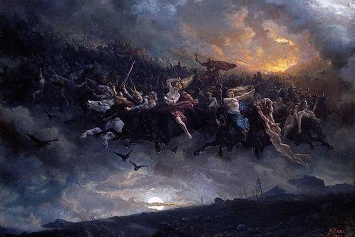 """Aasgaardreien (The wild Hunt of Odin)"" by Peter Nicolai Arbo, 1872"
