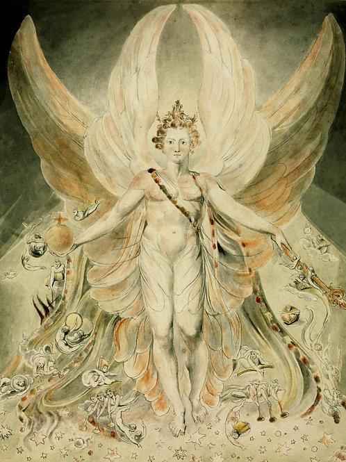 """""""Satan in his Original Glory"""" by William Blake, c.1805"""