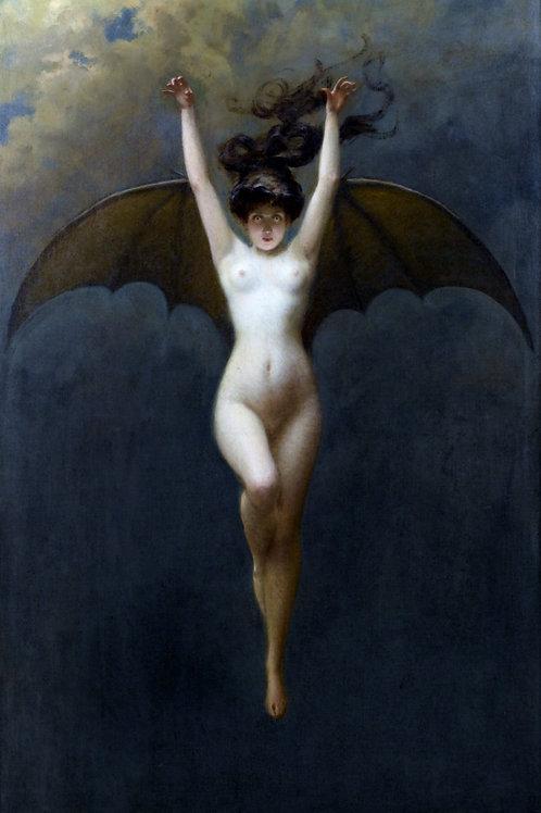 """The Bat Woman"" by Albert Joseph Pénot, c.1890"