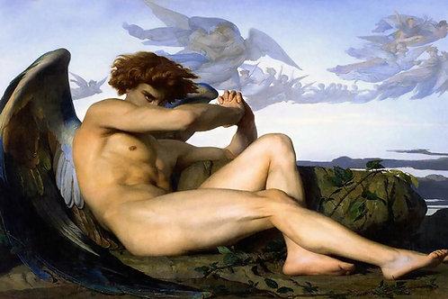 """""""Fallen Angel"""" by Alexandre Cabanel, 1847"""