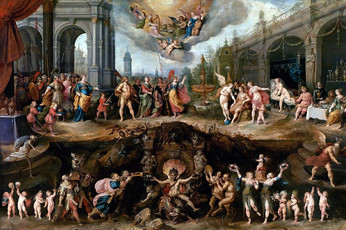 """Mankind's Eternal Dilemma"" by Frans Francken, 1633"