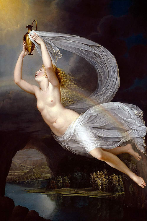 """Iris Carrying the Water of the River Styx to Olympus"" by Guy Head, 1793"