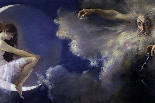 """""""The Spirit of The New Moon"""" by Artur José de Sousa Loureiro, 1888"""