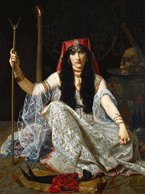 """The Sorceress"" by Georges Merle, 1883"