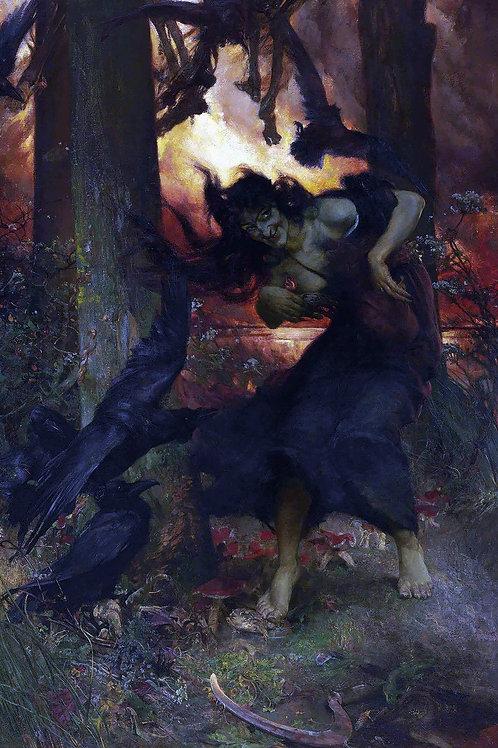 """A Witch"" by Edgar Bundy, 1896"