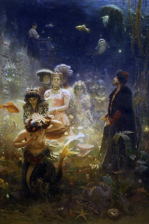 """Sadko In The Underwater Kingdom"" by Ilya Repin, 1876"