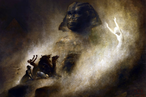 """The Great Sphinx of Giza"" by Karl Wilhelm Diefenbach, 1903"