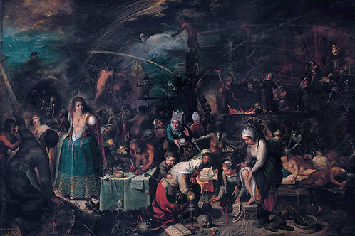 """""""The Witches Sabbath"""" by Frans Francken II, 1606"""