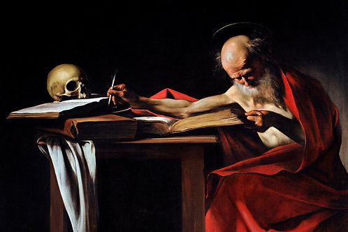 """Saint Jerome Writing"" by Caravaggio, 1605"