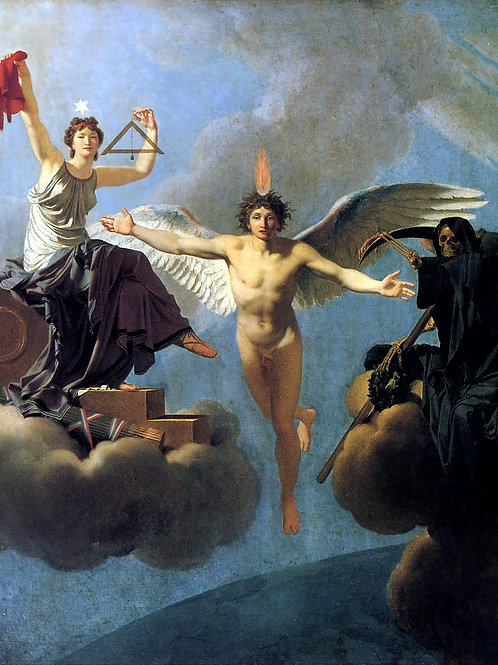 """""""Liberty or Death"""" by Jean-Baptiste Regnault, 1795"""