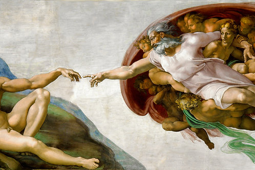 """The Creation of Adam"" by Michelangelo, c.1508"