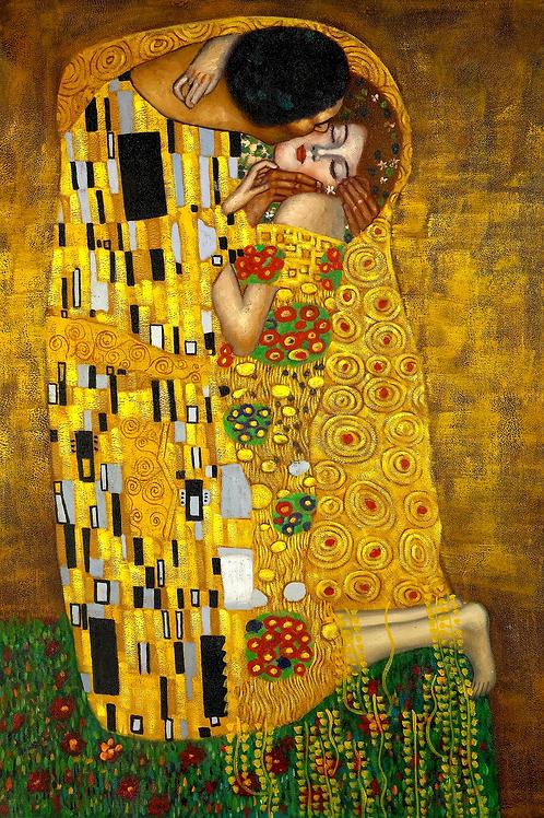 """The Kiss"" by Gustav Klimt, 1907"