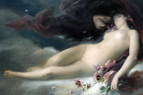 """Night"" by Alexandre-Auguste Hirsch, 1875"