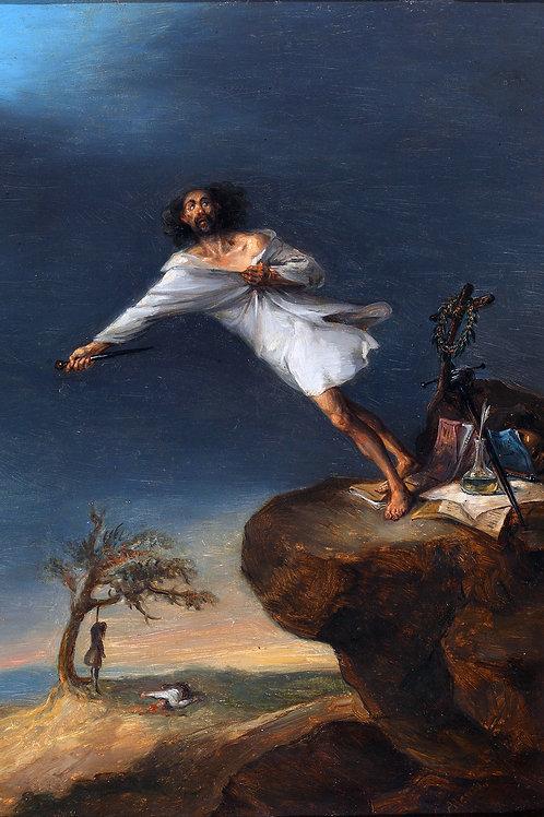 """""""Satire of Romantic Suicide"""" by Leonardo Alenza, 1839"""