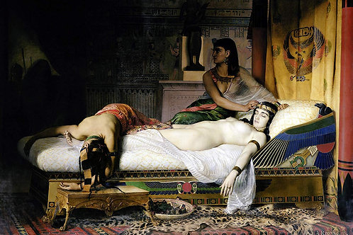 """""""Death of Cleopatra"""" by Jean-Andre Rixens, 1874"""