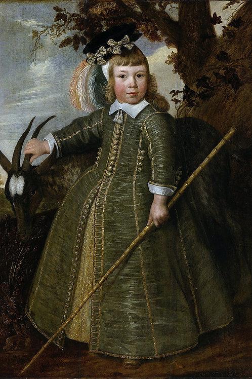 """Boy with a Billygoat"" by Jan Albertsz Rotius, 1652"