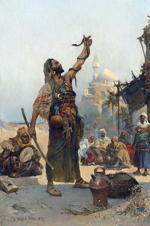 """The Snake Charmer"" by Charles Wilda, 1883"
