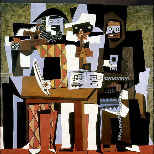 """""""Three Musicians"""" by Pablo Picasso, 1921"""