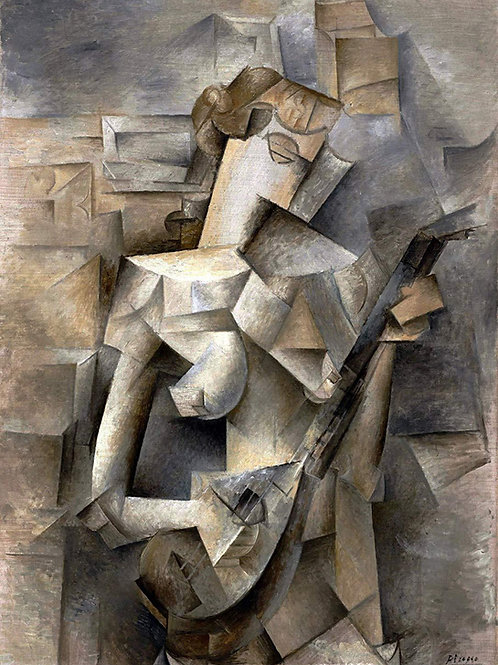 """Girl with a Mandolin"" by Pablo Picasso, 1910"