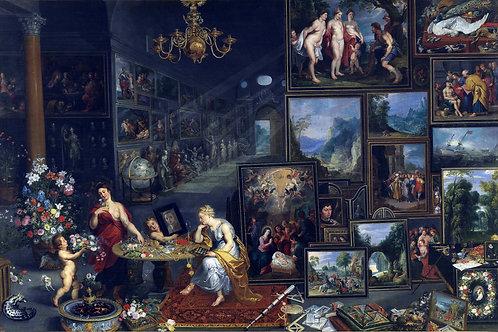 """Allegory of Sight and Smell"" by Jan Brueghel, Hendrick Van Balen, c.1570"