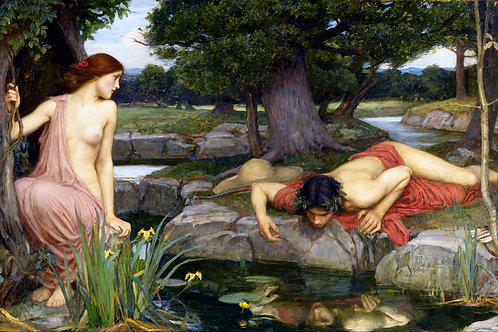 """Echo and Narcissus"" by John William Waterhouse, 1903"